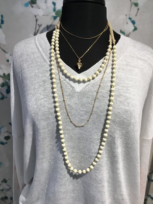 Meghan Browne Bambi Ivory Bead Necklace