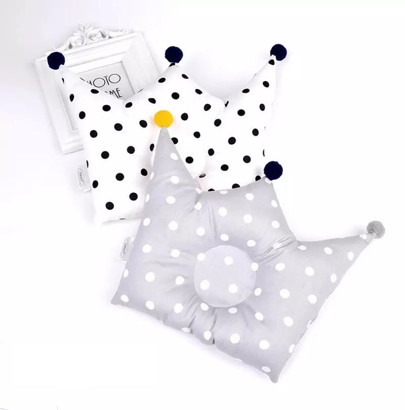 Royalty Infant Head Pillow Dots