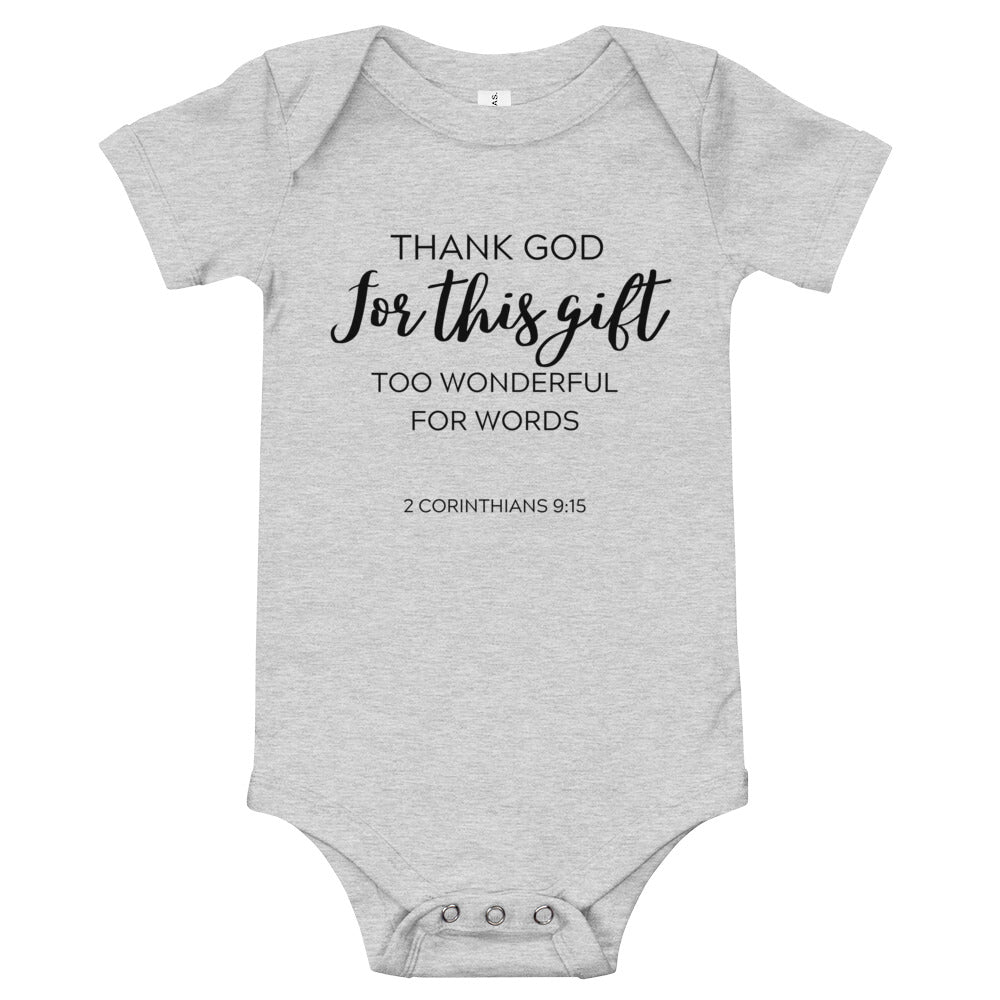 Thank God Infant Onesie