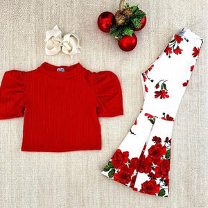 Katy Red Flowery Set
