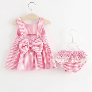 Anaya Striped Bowknot Dress