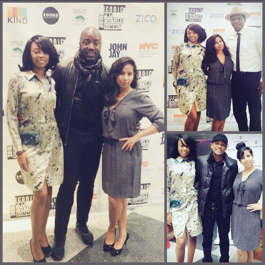Designer Tina Tandon with actor Malik Yoba (Empire), NBA star Felipe Lopez, actor Hill Harper (Limitless)