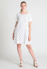 Circles dobby cotton shift dress