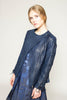 Vegetable dyed leather jacket with lace-up sleeves
