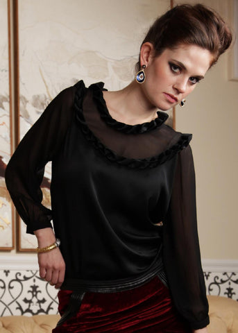 Mary Ann - Sheer & Origami top - SOLD OUT