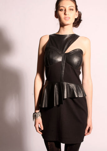 Leather / Ponte vixen dress