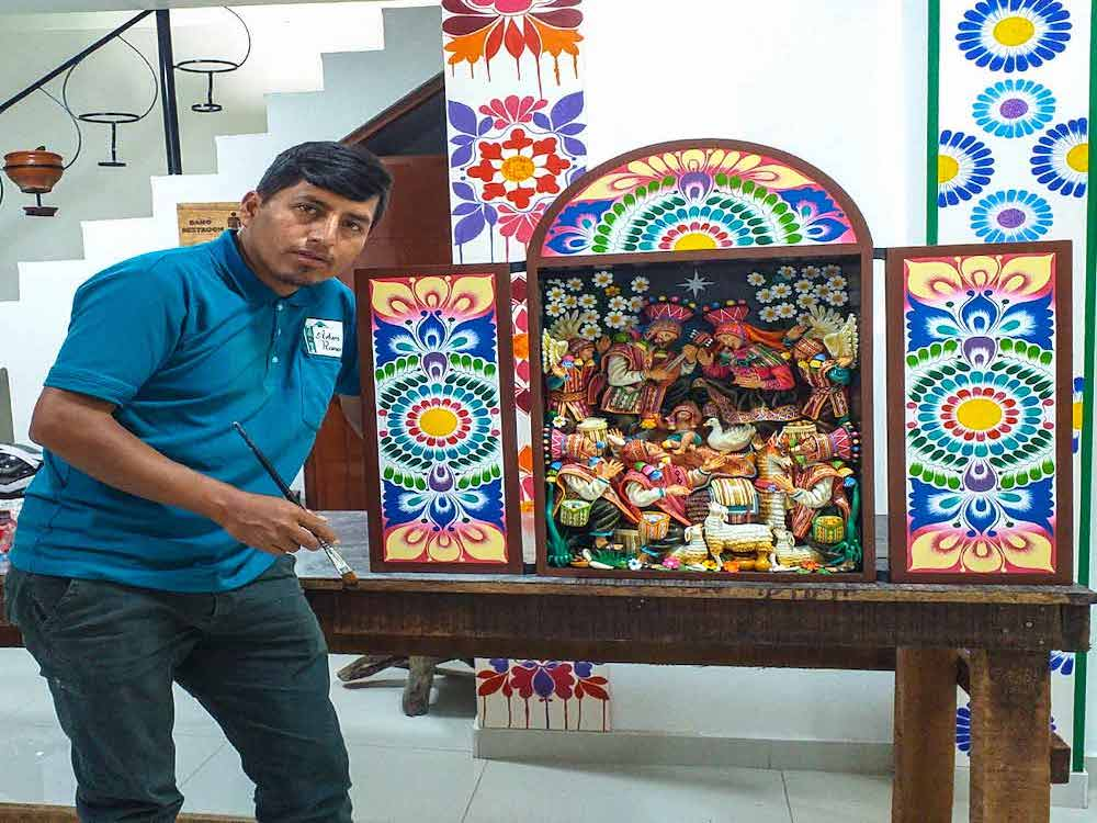 "PERUVIAN ARTIST ""ARTURO RAMOS"" AYACUCHO TOWN INNOVATIVE ART, IN THE UNITED STATES"