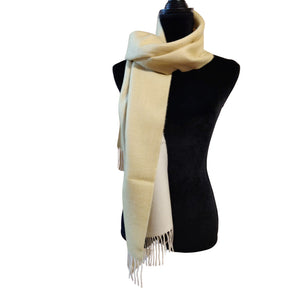 Luxury 100% Pure Peruvian Baby Alpaca Reversible Wool Scarf for Men & Women
