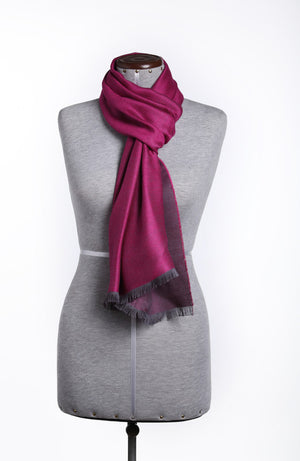 Luxury Pure Peruvian Baby Alpaca Wool & Silk Reversible Scarf for Men & Women