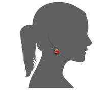 Load image into Gallery viewer, Gold Filled Adjustable Necklace & Dangle Huayruro Earrings