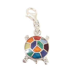 "Sterling Silver ""Strong & Hopeful Nature"" Meaningful Charms with Peruvian Natural Stones"