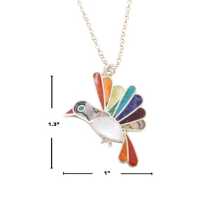 "Sterling Silver ""Hopeful Hummingbird"" Adjustable Meaningful Pendant/Necklace 16""-18"""