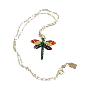 "Sterling Silver ""Hopeful Dragonfly"" Adjustable Meaningful Pendant/Necklace 16""-18"""
