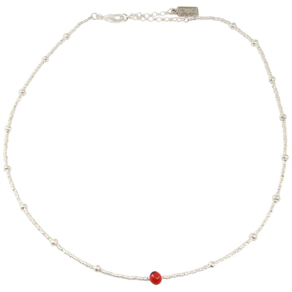 "Good Luck Sterling Silver Chocker Necklace 16""-18"""