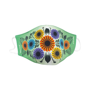 Traditional Andean Colorful Flower Washable Face Mask