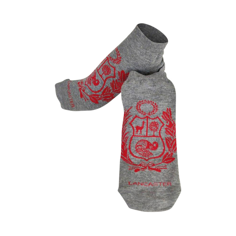 "Perú Shield Designed ""Unisex"" Cotton Socks - Gray"