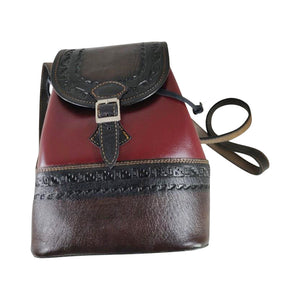 100% Genuine Leather Handmade Backpack Handbag