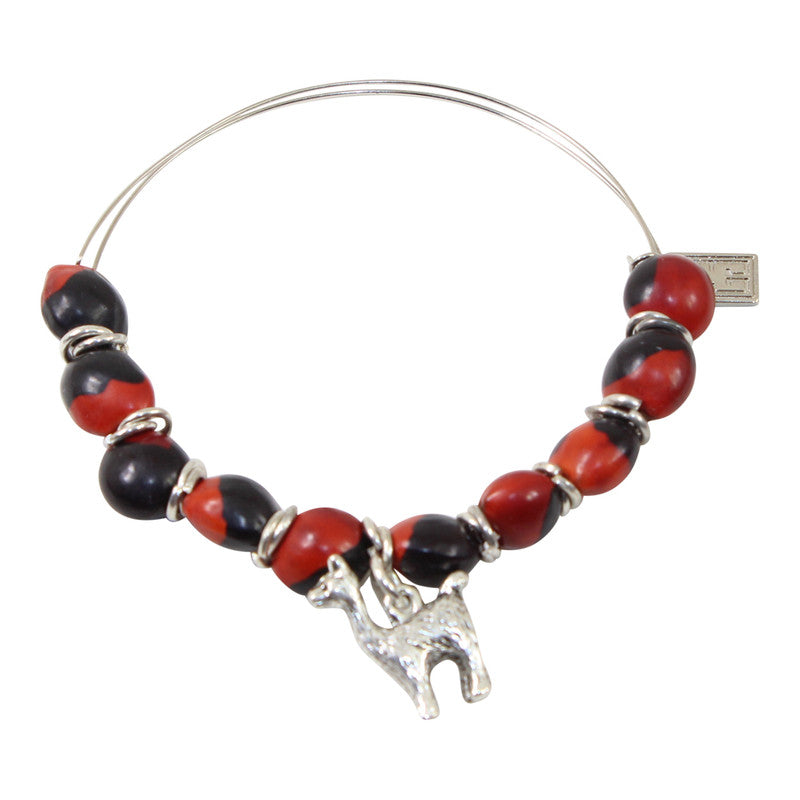 Llama Love Charm Adjustable Bangle Bracelet
