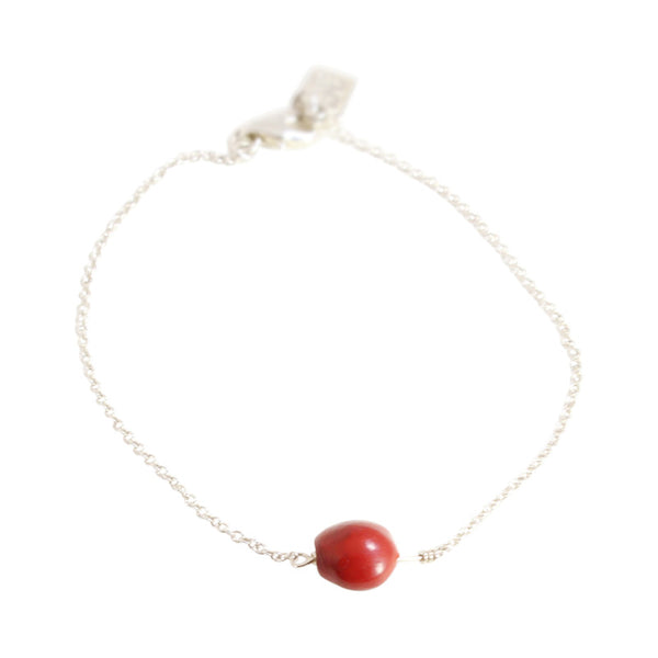 "Classic Adjustable Bracelet with Red Good Luck Seed Beads 6.5""-7.5"""
