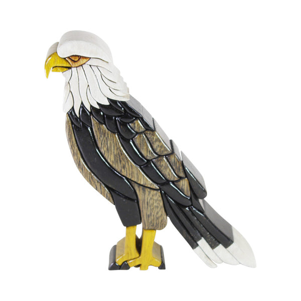 Bald American Eagle -  Symbol of Freedom  Reversible Handmade Woodwork Puzzle - Peru Gift Shop