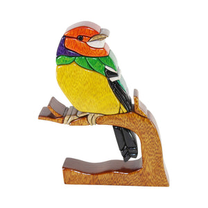 Tyrant Fly Catcher Bird Reversible Handmade Woodwork Puzzle - Peru Gift Shop