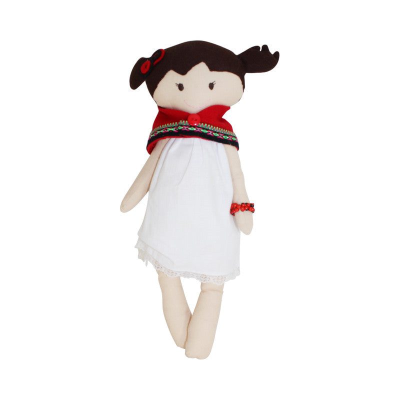 "Collectible Bere's Girlfriend Eco-friendly Cotton Handmade Doll L:16"" - Peru Gift Shop"