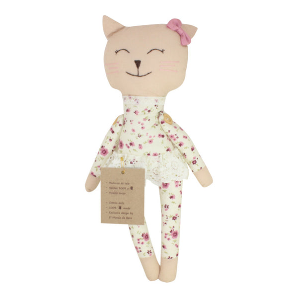 Collectible Bere's Kitty Friend Eco-friendly Cotton Handmade Doll