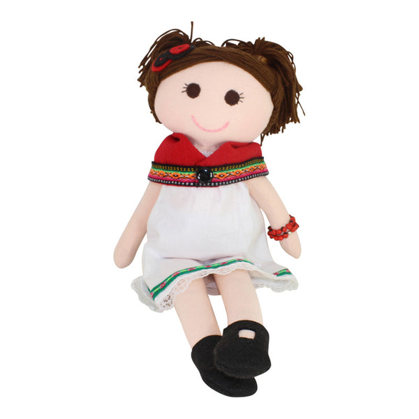 "Collectible Bere's Eco-friendly Cotton Handmade Doll L:16"" - Peru Gift Shop"