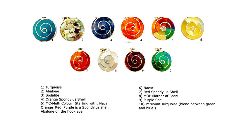 "Sterling Silver ""Happiness Multicolored"" Natural Stone Post Earrings"