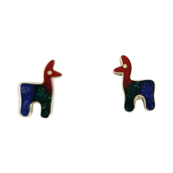 "Sterling Silver ""Llama Love"" Post Earrings"