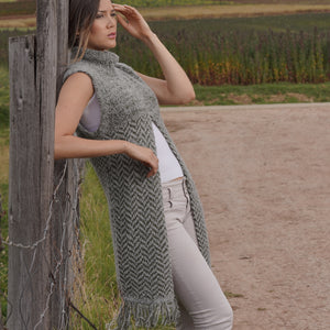 Baby Alpaca - Knit Vest Low Turtle Neck - One Size Fits All