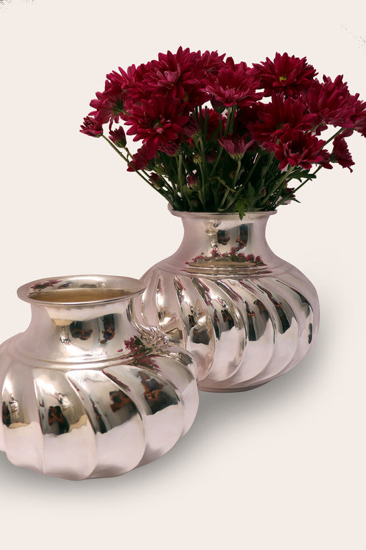 "Handmade Luxury Home Decor Silver Plated ""Cecile"" Flower Vase"
