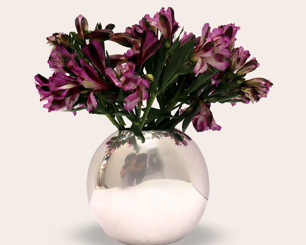 "Handmade Luxury Home Decor Silver Plated ""Scarlett"" Flower Vase"