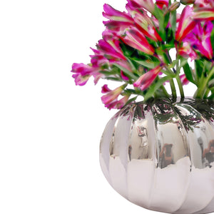 "Handmade Luxury Home Decor Silver Plater ""Petunia"" Flower Vase"