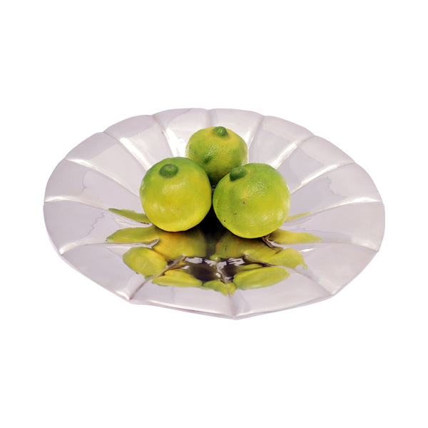 Handmade Luxury Decorative & Serving Silver Plated Platter