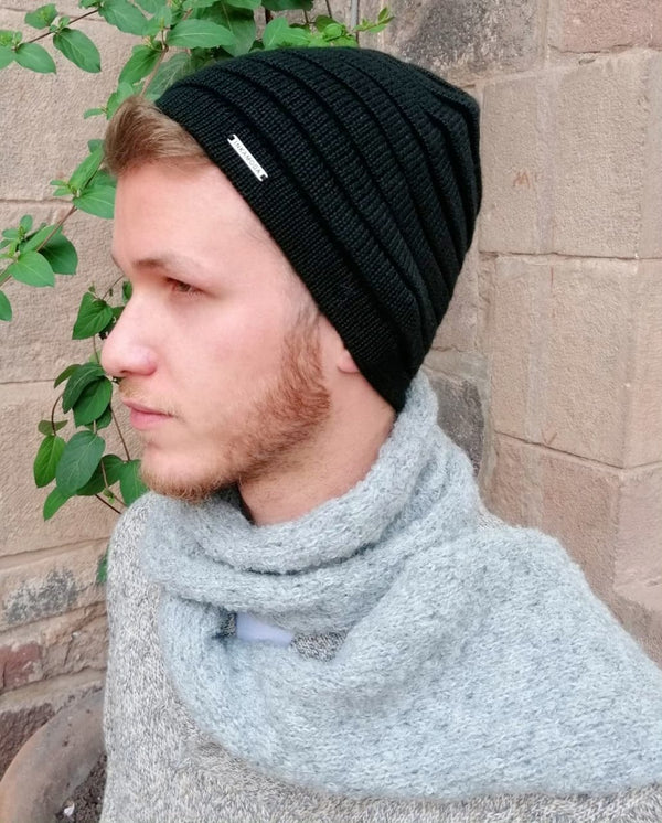 Baby Alpaca Handmade UNISEX Knit Hat - One Size Fits All