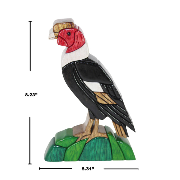 Condor King of Birds Reversible Handmade Woodwork Puzzle - Symbol Wisdom, Justice, Godness, and Leadership