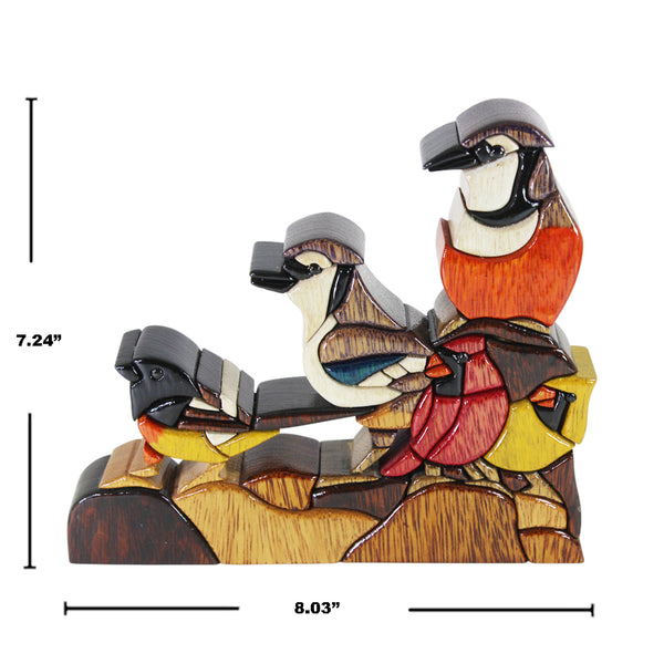Bird Family Reversible Handmade Woodwork Puzzle - Symbol of Unity