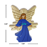 Guardian Angel Reversible Handmade Woodwork Puzzle - Symbol of Protection & Love - Peru Gift Shop