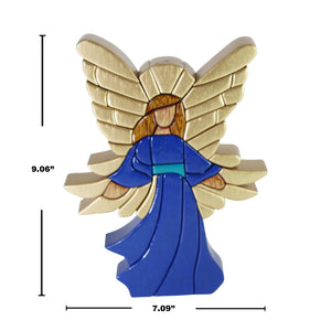 Guardian Angel Reversible Handmade Woodwork Puzzle - Symbol of Protection & Love