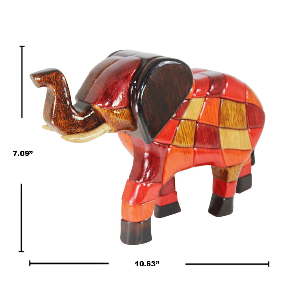 Elephant Reversible Handmade Woodwork Puzzle - Symbol of Good Fortune