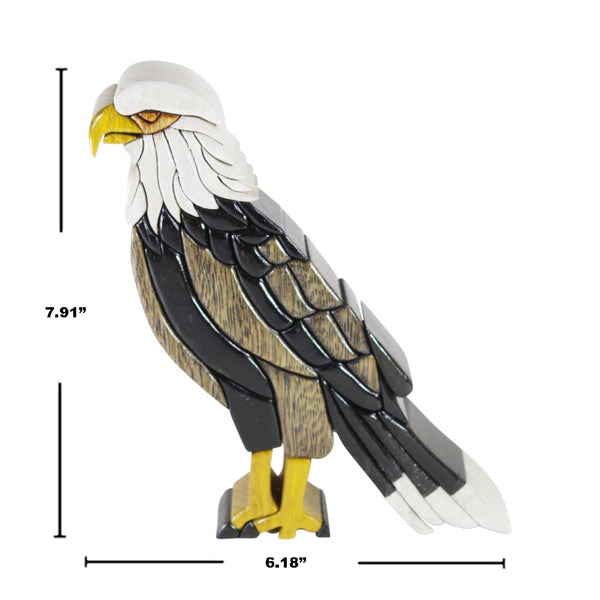 Bald American Eagle -  Symbol of Freedom  Reversible Handmade Woodwork Puzzle