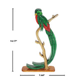 Exotic Parrot Jungle Reversible Handmade Woodwork Puzzle -   Symbol of Celebrating  Life - Peru Gift Shop