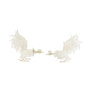 Sterling Silver Roosters Handmade in Filigree