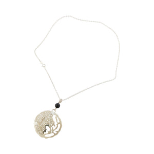 "Sterling Silver Filigree ""Opposites Attract"" Pendant/Necklace"