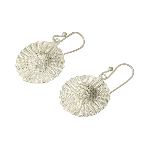 Sterling Silver Filigree Peruvian Traditional Hat Earrings