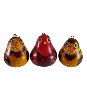 Luxury Bird Handmade Christmas Tree Ornament Decoration - Peruvian Traditional Gourds (Set of Three)