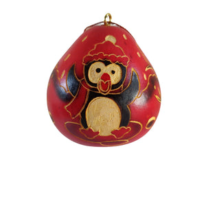 Cute Penguin Handmade Christmas Tree Ornament Decoration - Peruvian Traditional Gourds