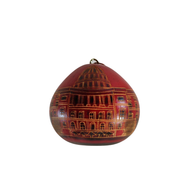 Deluxe Washington Monuments Handmade Christmas Tree Ornament Decoration - Peruvian Traditional Gourds (Set of Two)
