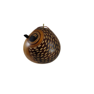 Deluxe Owl Ornament Handmade Christmas Tree Ornament Decoration - Peruvian Traditional Gourds